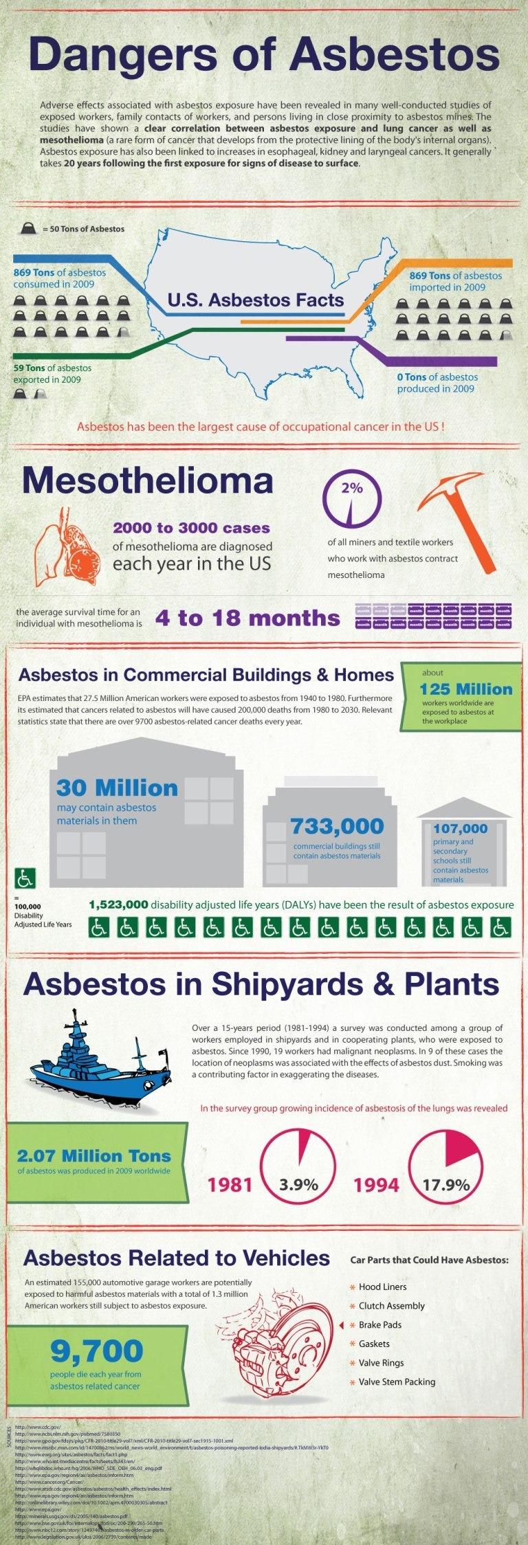 Dangers of Asbestos Summary Infographic